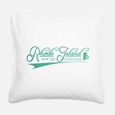 Rhode Island State of Mine Square Canvas Pillow