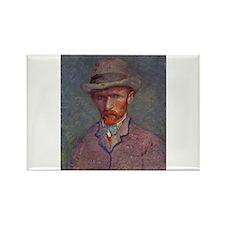Unique Post impressionist art Rectangle Magnet