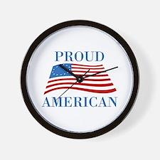 Proud American Patriotic Wall Clock