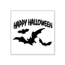"Halloween - Bats Square Sticker 3"" x 3"""