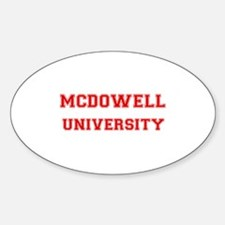 MCDOWELL UNIVERSITY Oval Decal