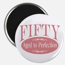 50th aged to perfection Magnet