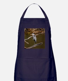 GREAT BLUE HERON Apron (dark)