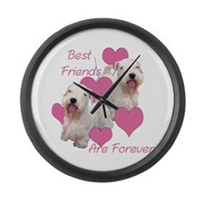 sealyham terriers Large Wall Clock