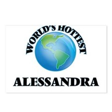 World's Hottest Alessandr Postcards (Package of 8)