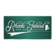 Rhode Island State of Mine Beach Towel