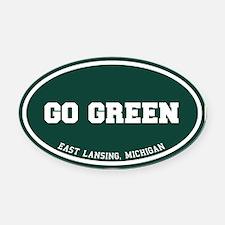 Go GREEN Oval Car Magnet