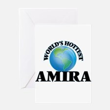 World's Hottest Amira Greeting Cards