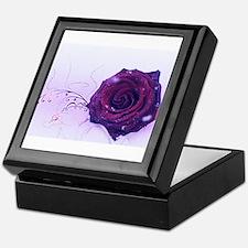 purple rose Keepsake Box