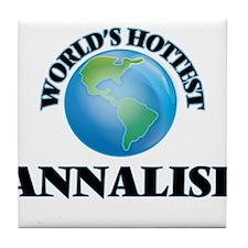 World's Hottest Annalise Tile Coaster