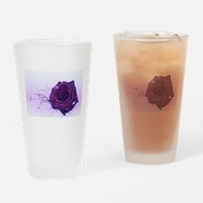 purple rose Drinking Glass