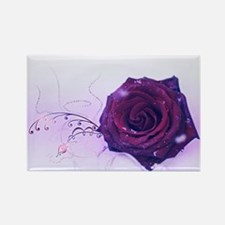 purple rose Magnets