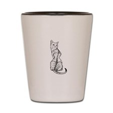 Corset Cat Shot Glass