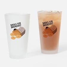 Breakfast Bagels Drinking Glass