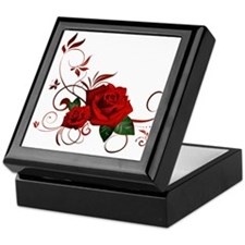 red roses Keepsake Box
