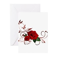 red roses Greeting Cards