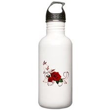 red roses Sports Water Bottle