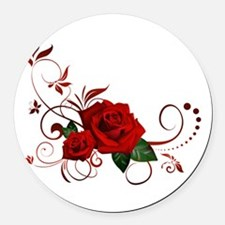 red roses Round Car Magnet