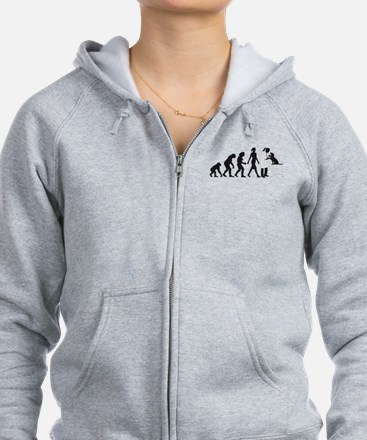 evolution of man female veterinarian Sweatshirt