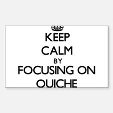 Keep Calm by focusing on Quiche Decal