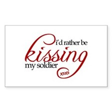 Kissing My Soldier Rectangle Decal