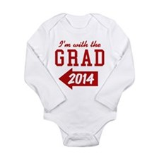 Cute 2014 graduation Long Sleeve Infant Bodysuit