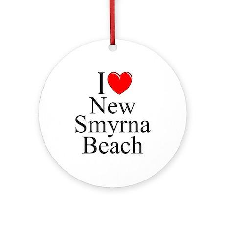 """I Love New Smyrna Beach"" Ornament (Round)"