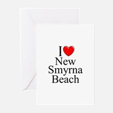 """I Love New Smyrna Beach"" Greeting Cards (Package"