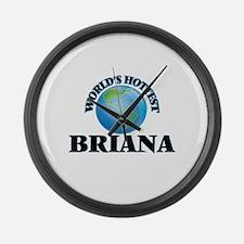 World's Hottest Briana Large Wall Clock