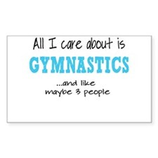 All I Care About Gymnastics Decal