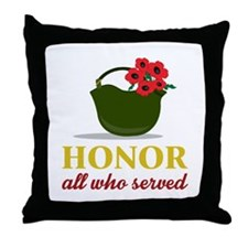 Honor Who Served Throw Pillow
