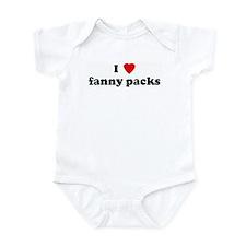 I Love fanny packs Infant Bodysuit