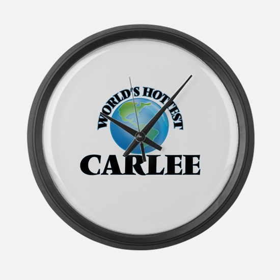World's Hottest Carlee Large Wall Clock