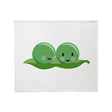 Two Peas Throw Blanket