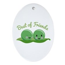 Best Of Friends Ornament (Oval)