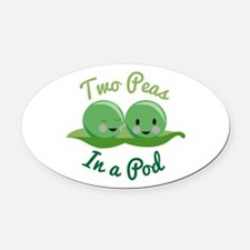 In A Pod Oval Car Magnet