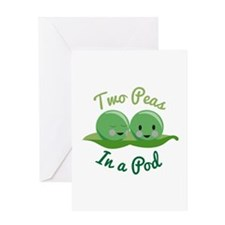 In A Pod Greeting Cards