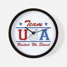 TEAM USA United We Stand Wall Clock