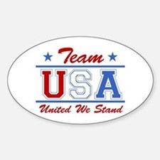 TEAM USA United We Stand Oval Decal