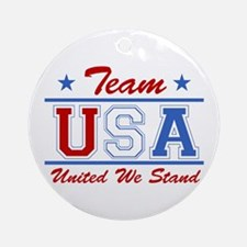 TEAM USA United We Stand Ornament (Round)