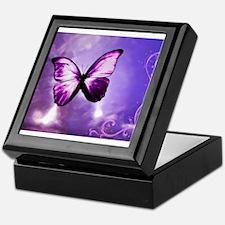 purple butterfly Keepsake Box