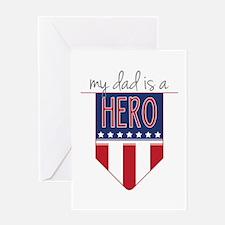 Dad Hero Flag Greeting Cards
