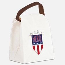 Dad Hero Flag Canvas Lunch Bag