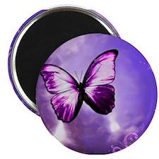 purple butterfly Magnets