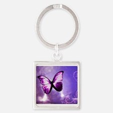 purple butterfly Keychains