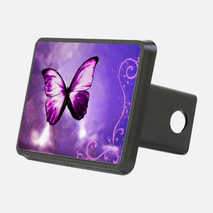 purple butterfly Hitch Cover