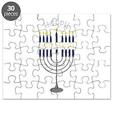 Happy Hanukkah Menorah Puzzle
