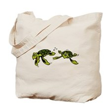 Baby Sea Turtles Swimming Tote Bag