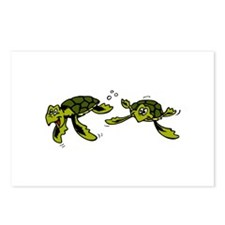 Baby Sea Turtles Swimming Postcards (Package of 8)