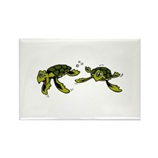 Baby Sea Turtles Swimming Rectangle Magnet